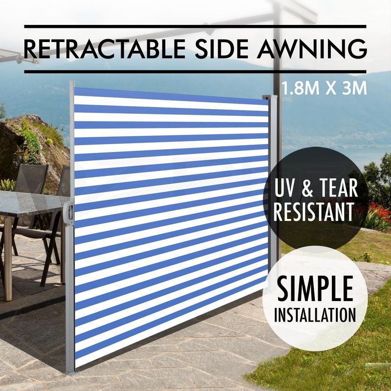 Waterproof Retractable Side Awning Privacy Screen ...