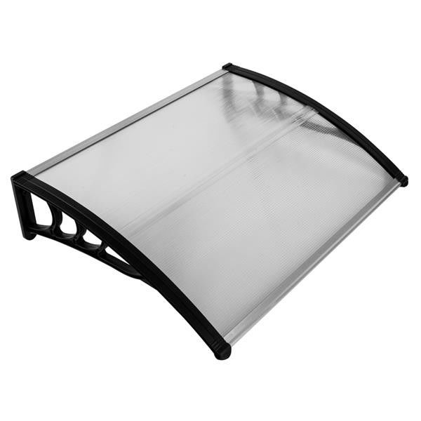 100 X 80 Polycarbonate Window Awnings Black Bracket Rain Cover Eaves